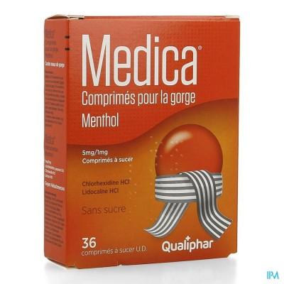 Medica Keeltabletten Menthol 36 zuigtabletten
