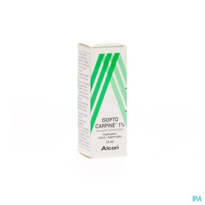 Isopto Carpine 1 % Collyre 15ml