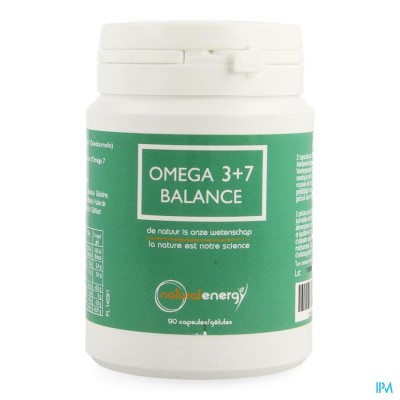 Omega 3+7 Balance Natural Energy Caps 90