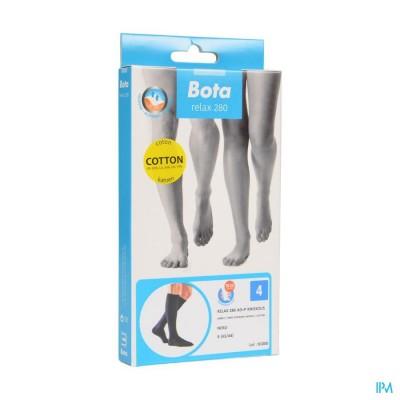Bota Relax 280 Katoen Korte Kous Zwart N4
