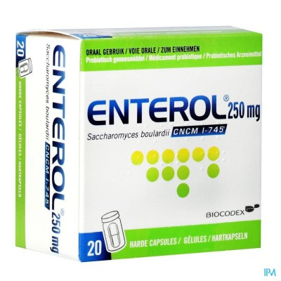 Enterol 250mg Caps Harde Dur 20 X 250mg