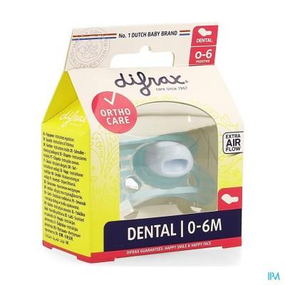 Difrax Fopspeen Sil Mini-dental 0-6m 799