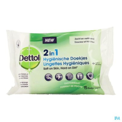Dettol Doekjes Hygienisch 2in1 15