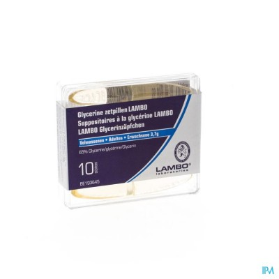 Glycerine Lambo Suppo Kegelvorm Ad 10