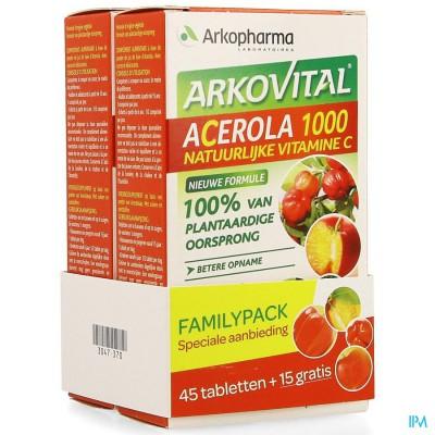 Arkovital Acerola 1000 Familypack Kauwtabl 60