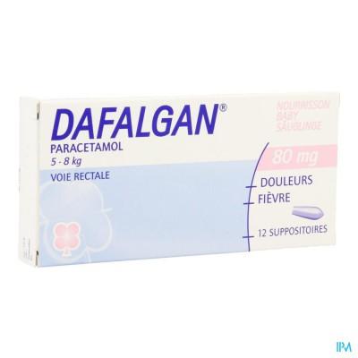 Dafalgan 80mg Suppos 12 Babys