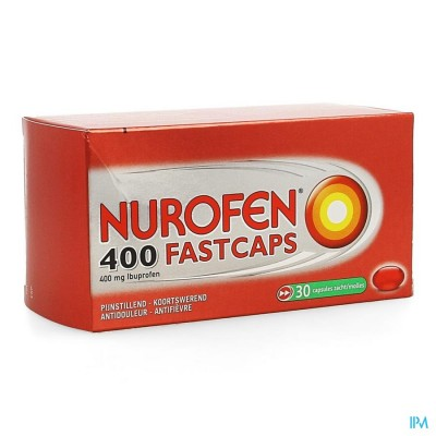 Nurofen 400 Fastcaps Caps 30 X 400mg