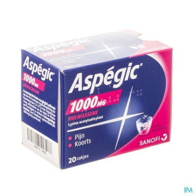 Aspegic 1000 Pulv 20x1000mg Ad