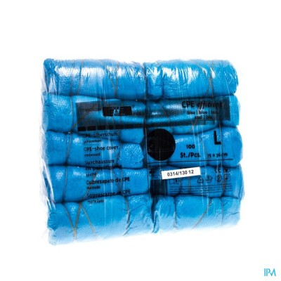 Schoenovertrek Pe Blauw 100 Vf-med
