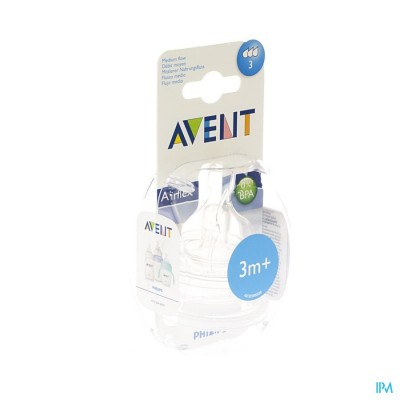 Philips Avent Zuigspeen Medium 3gaten 2 SCF633/27