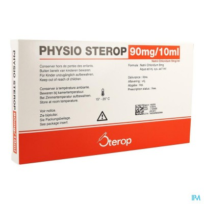 Sterop Physio Iv 10ml 0,9 % 10 Amp