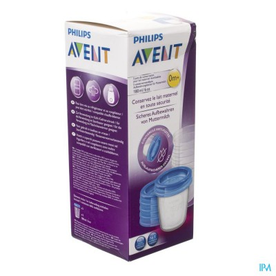 Philips Avent Via Natural Set Bewaarbeker 180ml SCF619/05
