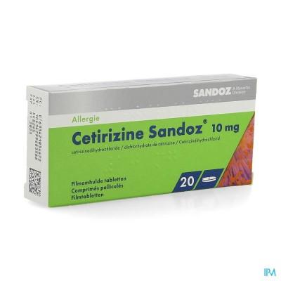 Cetirizine Sandoz Comp 20 X 10mg