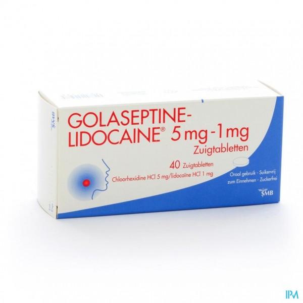 Golaseptine Lidocaine Zuigtabl 40