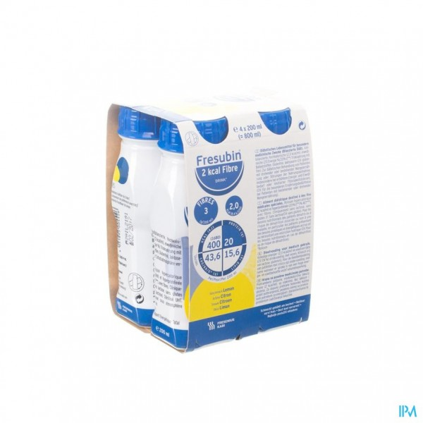 Fresubin 2 Kcal Fibre Drink 200ml Citron/citroen
