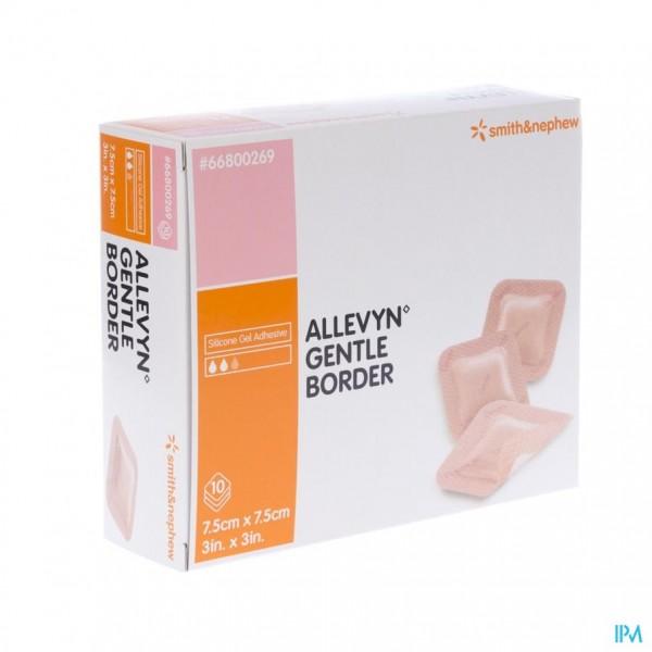 Allevyn Gentle Border Ster 7,5x 7,5cm 10 66800269